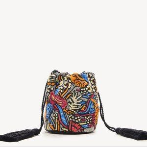 NWT Sole Society Kipp beaded bucket purse